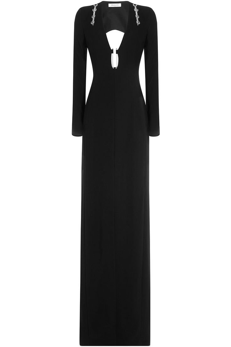 Mugler - Floor Length Gown with Cut-Out Back