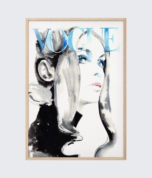 Modern Vogue Cover Poster 1969 Jean Shrimpton Vintage Poster Unframed - Wall Art