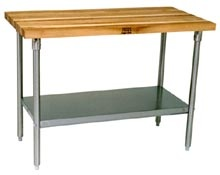 Kitchen Work Tables - John Boos Work Tables with Maple Tops | Kitchensource.com