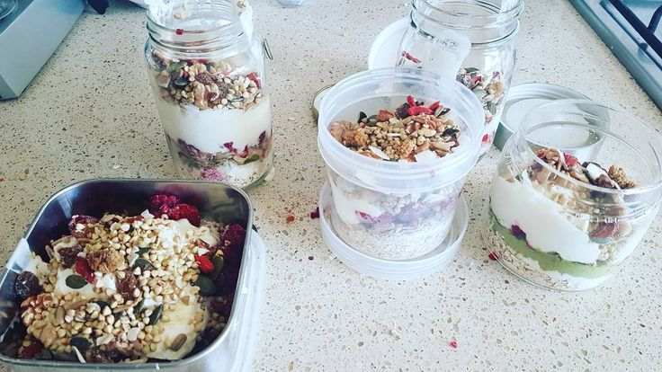 If you don't take photos is it even really food prep?  #foodprep #breakfasts #yoghurtjar