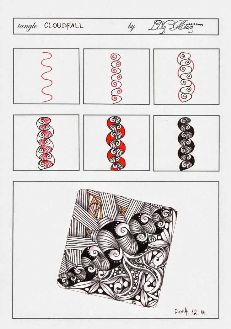 666 best Zentangle ~ Tangle Patterns images on Pinterest