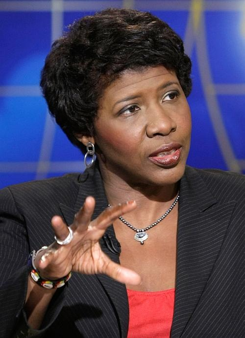 PBS newscaster Gwen Ifill (also vice presidential debate moderator)
