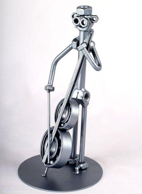 Violoncellista MetalDiorama metallo arte di MetalDioramaWoodArt