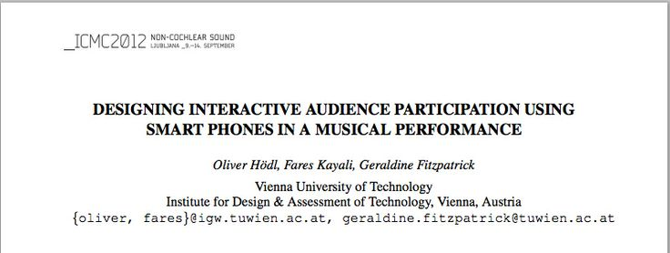interactivity in a rock concert http://quod.lib.umich.edu/cgi/p/pod/dod-idx/designing-interactive-audience-participation-using-smart.pdf?c=icmc;idno=bbp2372.2012.042