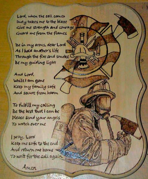 Fire Fighters Prayer Words And Quotes Firefighter