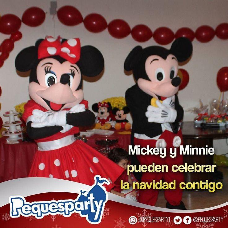 Regalale a tu peque la oportunidad de conocer a #Mickey y #Minnie en esta Navidad. Te damos alegría.  #navidad #pequesparty #diversion #entretenimiento #juegosinfantiles #animacion #fiestanavideña #disney #personaje #infantil