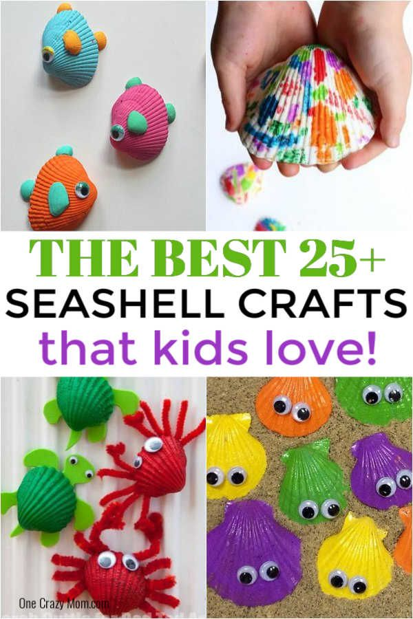 Seashell Crafts For Kids 25 Craft Activities With Shells In 2020