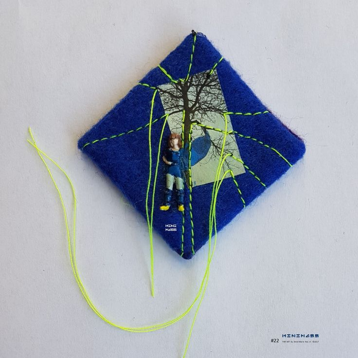 SOLD #22 Travel the wind, don't blend in. minimass® TINY ART by Anne-Marie Ros .nl