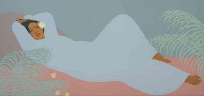 Pegge Hopper | 2859: Pegge Hopper, (American, b. 1936), Lady Reclining : Lot 2859
