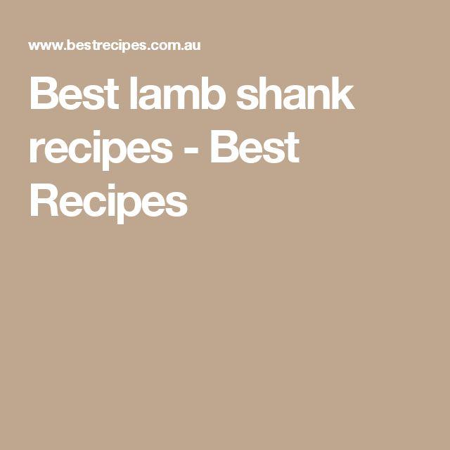 Quick easy lamb shank recipes