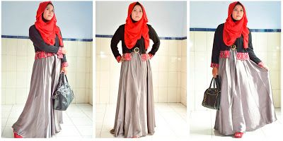 Rok Satin Lebar Untuk Hijabers Skirts Lover