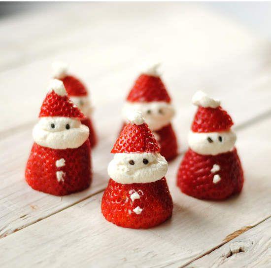 《草莓可愛裝飾法》草莓聖誕老人也太可愛了拔