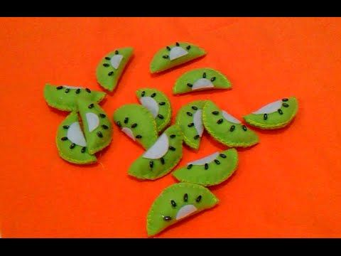 Membuat Hiasan Toples Flanel [buah kiwi]-Erika Flannel Craft - YouTube