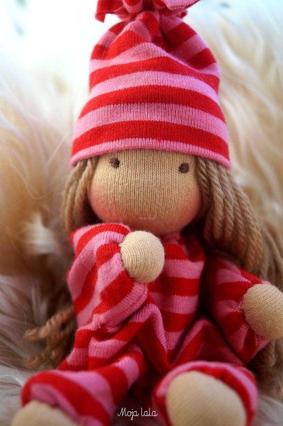 Tiny waldorf baby doll by Mojalala on Etsy
