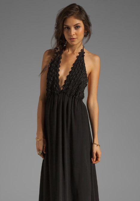 FOR LOVE & LEMONS EXCLUSIVE Camillia Maxi Dress in Black - For Love & Lemons