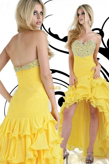 Yellow prom dresses under 200
