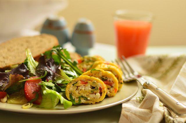 Fetás tojástekercs, rántotta helyett