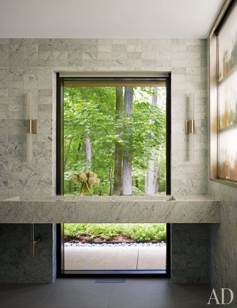 A Midcentury Home In Connecticut Is Reimagined As A Modern Marvel. Bathroom  WindowsArchitectural ...