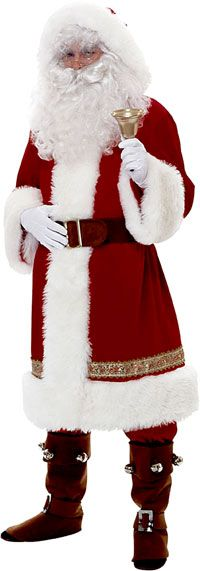 Image of Super Deluxe Old Time Santa Costume