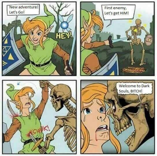 I don't know how Link would handle monsters in the Dark Souls universe, but I'm pretty sure he wouldn't last very long. [Via _Lammiwinks_ on Reddit]