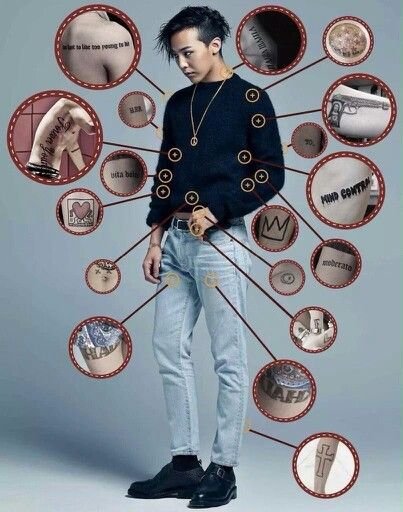 I hope idols make tattoos more common and maybe even legal?? in Korea
