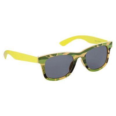 Baby Boys' Round Camo Sunglasses Multi Osfm - Circo, Green