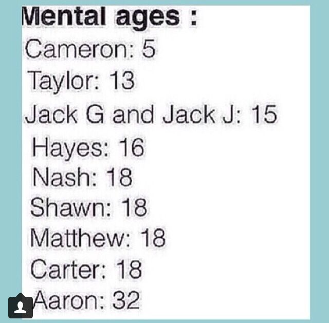 This is so accurate. Aaron is like the dad of MAGCON, and Cameron is like the baby while Taylor is the rebellious teenager, and the Jacks are right in between, than the rest of them are the same