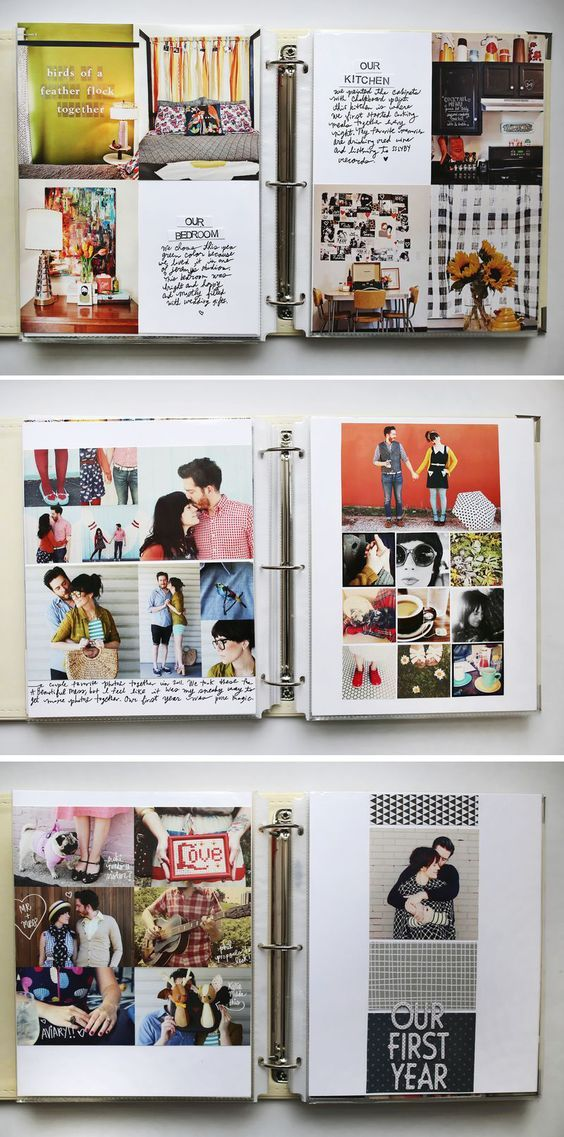 This is such a nice idea to have a scrapbook filled with memories from your first year of marriage