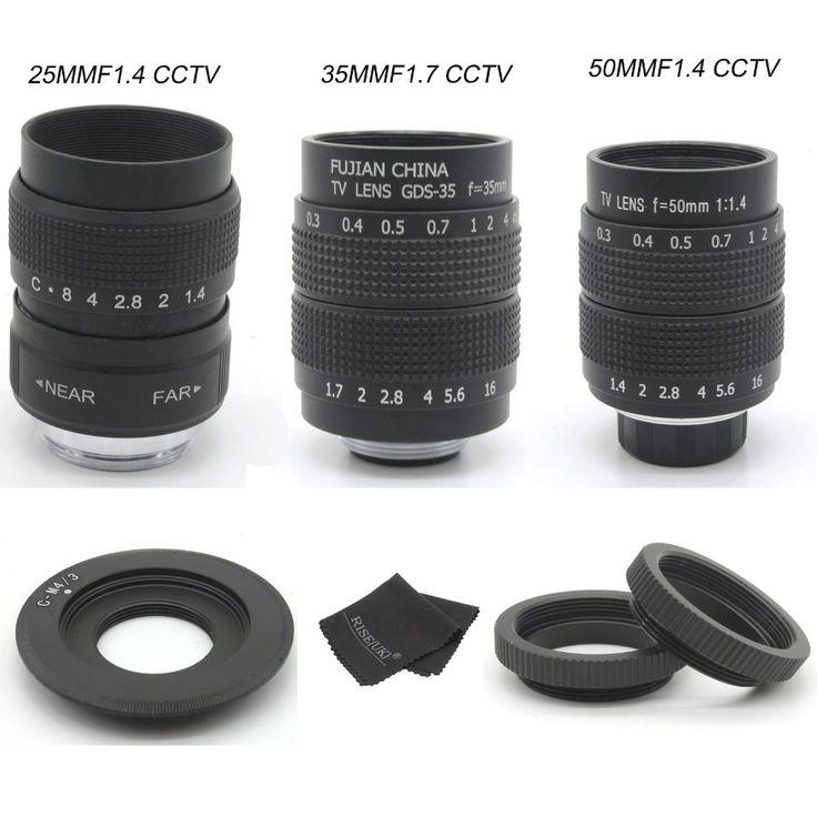 FUJIAN 35mm F1.7 CCTV Movie camera Lens   25mm f1.4 camera Lens   50mmf1.4 camera Lens for M4/3 / MFT Olympus / Panasonic camera