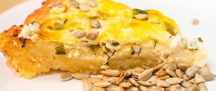 пирог с творогом и сыром