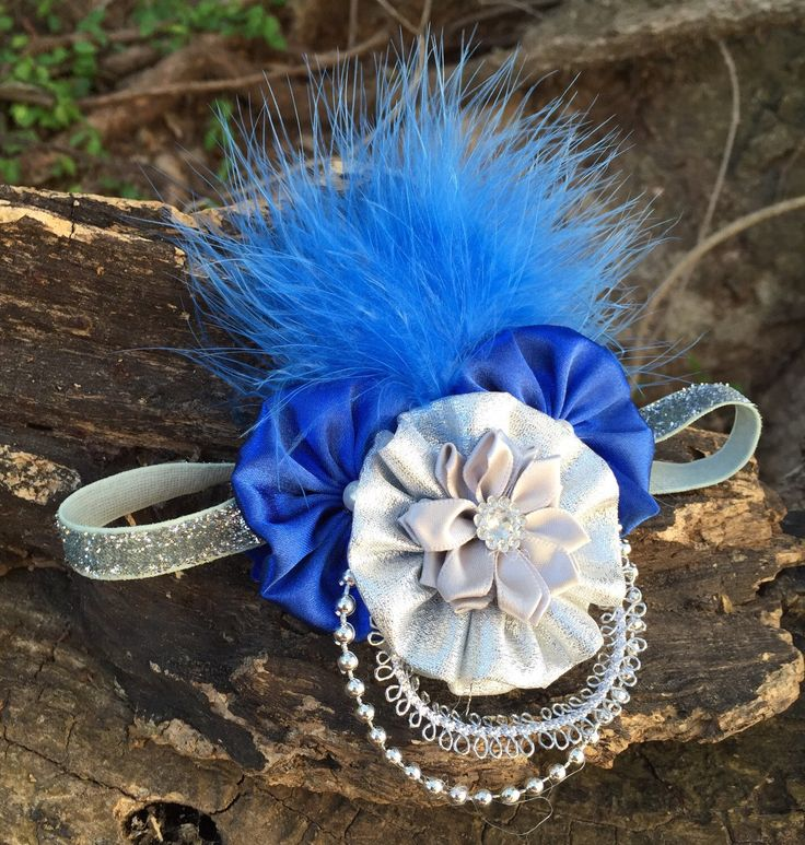 Silver Sparkle Headband, Blue snd Silver Headband,Royal Blue Vintage Headband, Baby, Baby Girl and Toddler Headband, Photo Prop by SundayChildBoutique on Etsy https://www.etsy.com/listing/275254806/silver-sparkle-headband-blue-snd-silver