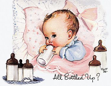Vintage Inspired Greeting Cards Charlotte Byi Birthday, Cheer Up, New Baby New
