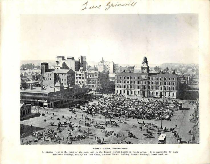 Johannesburg se Markplein in 1900.