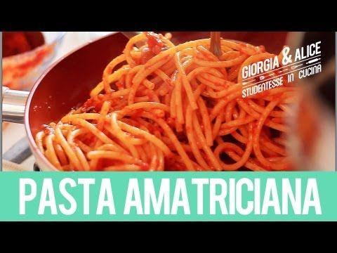 Bucatini all'Amatriciana | Ricette facili e veloci | Giorgia e Alice studentesse in cucina