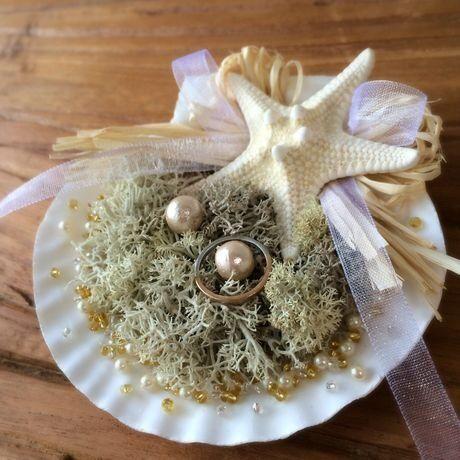 【再販】貝殻のリングピロー(スターフィッシュ) by ConpeticaCraft アクセサリー 指輪