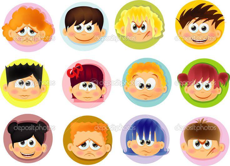 Descargar - Niños divertidos dibujos animados — Ilustración de stock #30816935