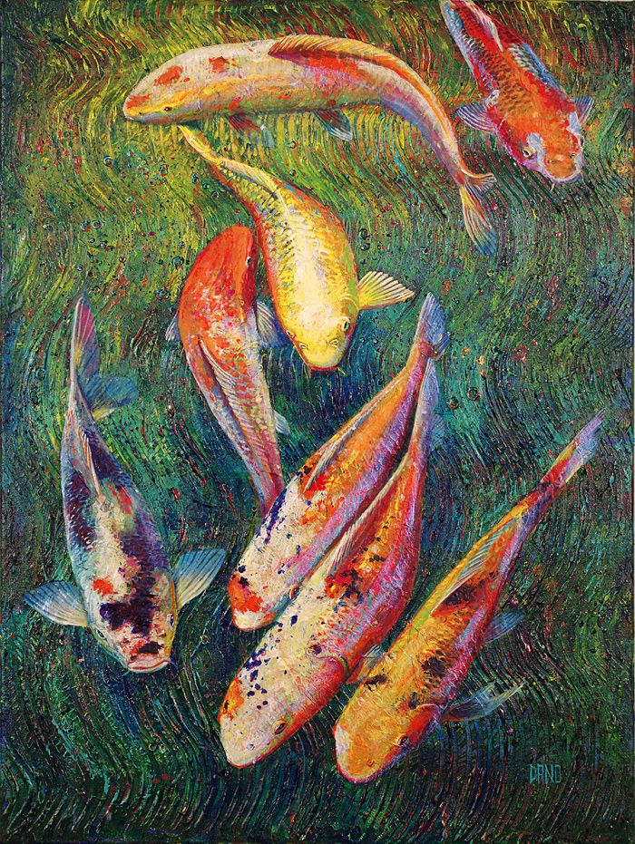 13 best my art images on pinterest fish artwork seattle for Koi artwork on canvas
