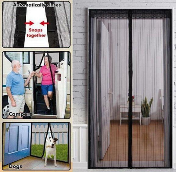 summer mosquito net curtain screen magnets door mesh insect fly bug mosquito door curtain magnetic net