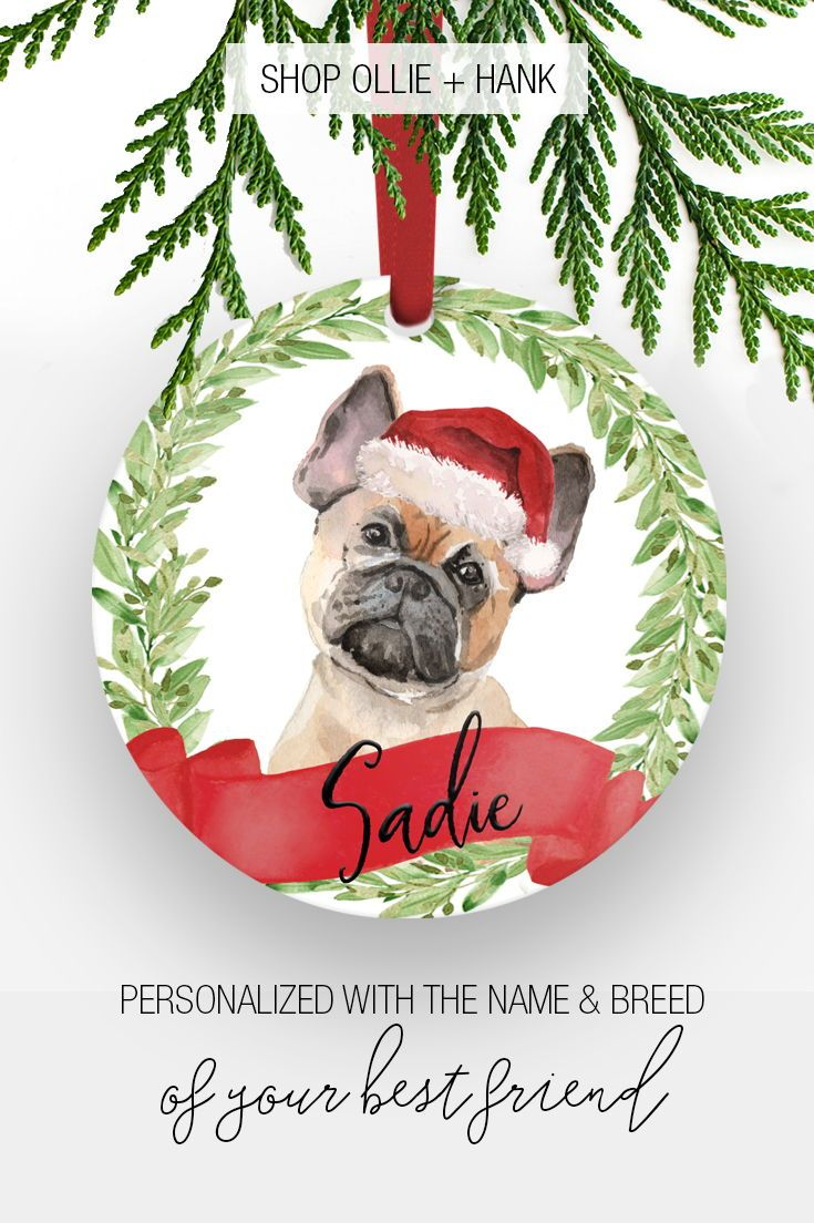 Personalized Dog Ornament   Custom Dog Ornament   Christmas Gift ...