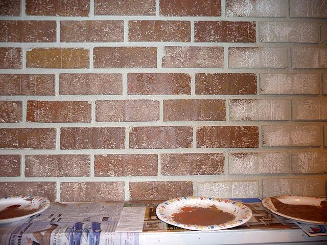Painting Brick Fireplace - From White to Beautiful Brownstone - Pretty Handy Girl