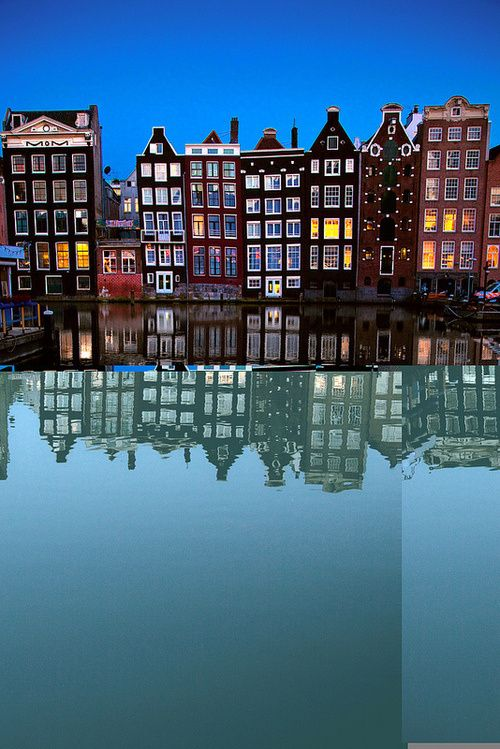 Home reflections in Amsterdam, The Netherlands.  Go to www.YourTravelVideos.com or just click on photo for home videos and much more on sites like this.