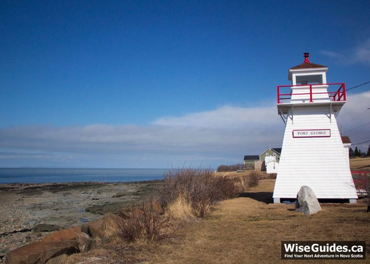 Port George, Nova Scotia is a small community on the Bay of Fundy. Here are 4 things to do in Port George: Lighthouse, Jamboree, picnic park, and beachcombing.