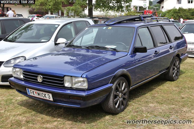 https://flic.kr/p/FH44B1 | Blue VW Passat B2 Variant | Woerthersee Tour GTI-Treffen 2015 - www.woertherseepics.com/