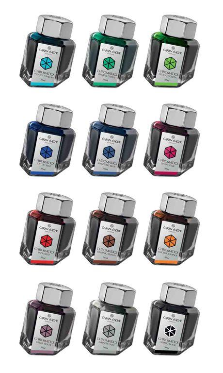 Caran dAche Chromatics ink- inchiostro in boccetta - Casa della Stilografica - Vendita online penne