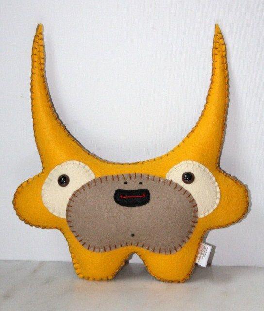 Stuffed Monster Plush Felt Monster Plush Alien by saumansmith