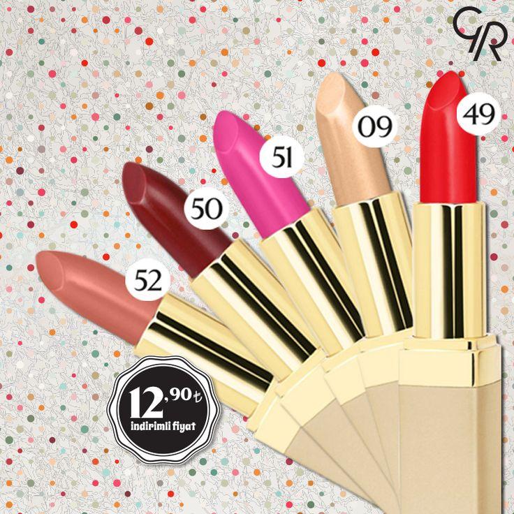 Vazgeçemediğin rujun Ultra Rich Color Lipstick şimdi Mayıs indiriminde. Kaçırma! http://www.goldenrosestore.com.tr/ultra-rich-color-lipstick.html