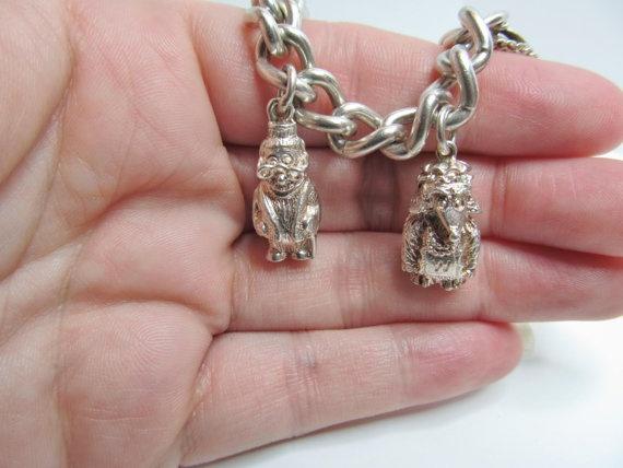 Wombles Silver charm Bracelet Hallmarked