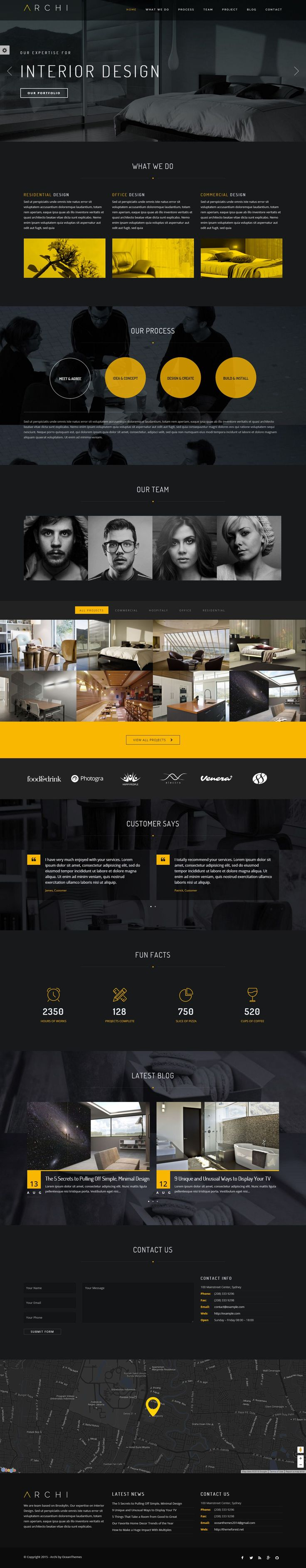 Archi has beauty design and bunch of features to make your website stand out of crowd. Powered by HTML 5, CSS 3, jQuery with flexibility of Bootstrap 3. Get Archi now! #Interior #design #Architect