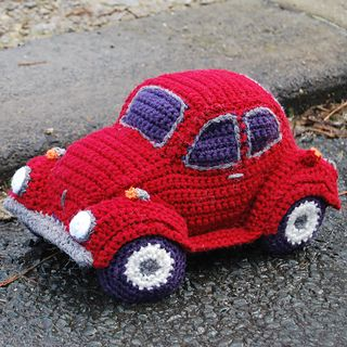 Who can resist the classic VW Beetle? With it's fabulous friendly shape it was the inspiration for the Hug-a-Bug, a cuddly car, just for you!