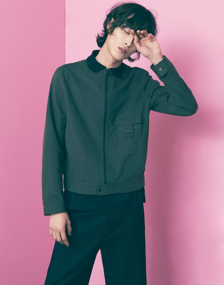 "FREIKNOCK 17S/S LOOKBOOK ""REFORMATION"" FREIKNOCK SIMPLE POKET JAKET MENS FASHION UNISEX"